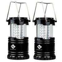 aa saving - Portable Outdoor LED Camping Lantern with AA Batteries Black Collapsible luminous light while saving energy