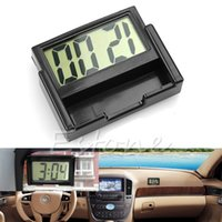 Wholesale Interior Auto Dashboard Desk Digital Clock LCD Screen Self Adhesive Bracket