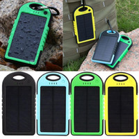 Wholesale The Newest Universal mAh USB Port Solar Power Bank Portable Charger External Backup Battery For iPhone Sumsung iPad Tablet Smartphone