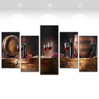Cheap More Panel panel wall Best Oil Painting Fashion bar wall