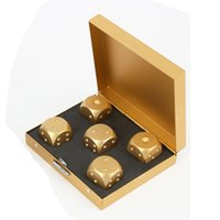 Wholesale Alloy Metal Craps and Box Poker Party Game Toy Portable Dice Man Boyfriend Gift KTV Game