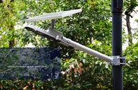 Venta directa de Led Luminaria Led brillante estupendo todo en una luz de calle solar Ip65 decoración de jardín al aire libre Pir Motion Senso rLLFA