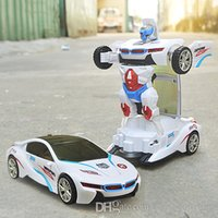 Wholesale 2016 New Hot Sale Automatics Deformation cars light and music electric toy car deformation robot Benzs Hummers robot toys for children