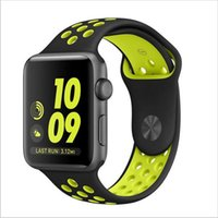 Wholesale Newest smart watch and Flexible breathable sport silicone Band for apple watch Series mm Stylish Cool Bracelet Strap for Apple Watch