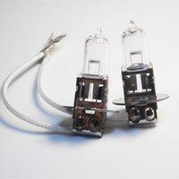 al por mayor bombillas foglight h3-40pcs H3 12V 55W pk22s E4 claros coche bombilla de halógeno EMARK cristal de cuarzo base de acero inoxidable CP003