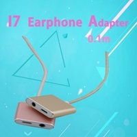 Wholesale 10pcs sell Iphone iphone plus Earphone Adapter Data Adapter Cords connect the headset and Charge the lighting cm Cable