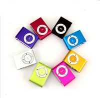 Wholesale NEW Fashion Mini Cheap Clip Digital Mp3 Music Player USB with SD card Slot black silver mixed colors include earphone and charger