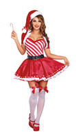 Wholesale 2016Sexy Christmas Costumes For Women Naughty List Vixen Mini Dress Set opera cape Trim Hat belt Outfit3088