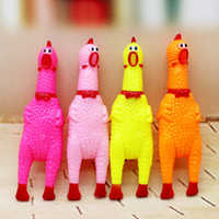 big kid mascots - YUMU Three Sizes Screaming Rubber Shrilling Sound Chicken Funny Pet Dog Love Clown Mascot Toy Squeak Squeaker Chew Gift Color Random