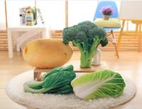 Wholesale cm Creative D Simulation Plush Vegetable Cushion Pillow Potato Chair Seat Sofa Meditation Floor Cushion Birthday Gift