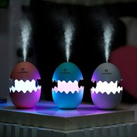 air china office - Funny USB Mini Egg humidifier with Colorful Night Light egg tumbler Aroma Diffuser for Car Home Office Mist Maker egg air purifier LED Light