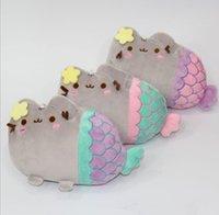 8-11 Years Cats/Mice/Dogs other Pusheen Plush Toys Mermaid Cat Soft Stuffed Doll Pusheen Cat Stuffed Plush Animals Toys Pusheen Plush toys gift for kid Best Gift KKA1424