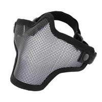 Wholesale Half Lower Face Metal Steel Net Mesh Hunting Tactical Protective Airsoft Mask Gofuly