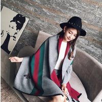Wholesale The new cashmere scarf in the fall and winter of Small bees high grade fashionable joker warm shawl scarf and thickening