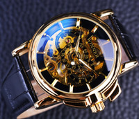 Wholesale Winner Navigator Series Men Watches Top Brand Luxury Clock Men Gold Watches Men Wristwatch Montre Skeleton Mechanical Watch