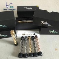 Wholesale 7pipe Twisty Glass Blunt Pipe Kit New Generation Herbal Vapor Dry Herb Vaporizer Pen Twist Me Vapor Mix Colors in Stock