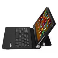 Wholesale PU Leather Case Wireless Bluetooth Keyboard For Yoga Tab3 Pro inch Stand Cover Black Removable Keyboard
