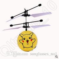 Wholesale 21 Designs Minions Pikachu Gyro Mini Sensor LED Light Flying Ball UFO Classic Electric Toys RC Flying Helicopter UFO Ball LJJC5186