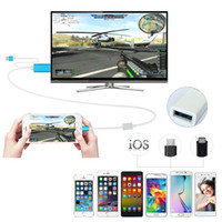 android phone to tv cable - 3 in HDMI Cable for iphone S S Plus Android phone type c Device to TV HDMI Cable P HDTV Cable Adapter Good Quality