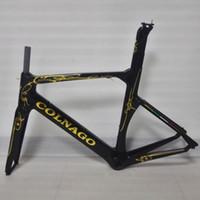 Wholesale Whosale Brand New Colnago Concept Black gold Version UD velo bici BICICLETTA Carbon Road Bike cm