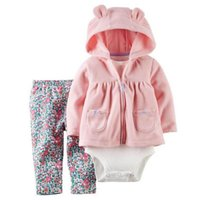 Unisex baby girl long coat - MinBoutique Winter Baby Girls Sets Warm Coats Pants Suits N12050