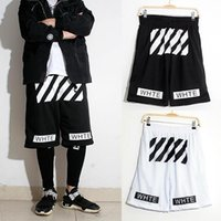 Wholesale mens shorts sprot Off white twill printed leisure black men and women shorts homme Pyrex