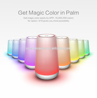 Wholesale Smart LED Magic Color Light smart Music Lamp Bluetooth Speaker with LED bulb cell phone app control support TF card