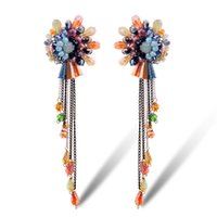 Wholesale Shardon Fashion crystal handmake earrings alloy material and multicolor Bohemia style for women have in stock