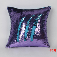 Wholesale Creative Sequins Pillowcase styles Patchwork Magical Pillow Cover Double Color cmx40cm Home Textile Shiny scale sofa Pillow Cover