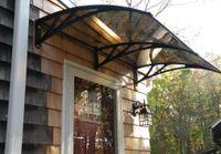 Wholesale DS100240 P x240CM depth cm width cm plastic bracket shelter awning polycarbonate sheet cover shelter awning polycarbonate awning
