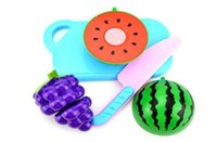 Wholesale Guojiajia toys simulation fruit cut Leche fruit toys children s kitchen toys package