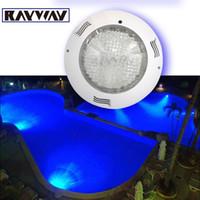 AC aquarium wall decorations - W RGB pool light Swimming fountain lamps leds piscina V IP68 Aquarium underwater Wall mounted remote control decoration lamp
