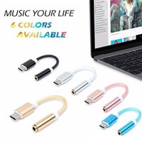 Micro USB For Chinese Brand  Nylon Braided 12CM Audio Adapter Male Type-C to 3.5mm Jack Female Audio AUX Cable Covertor For Nexus 5X 6P   OnePlus 2   Lumia 950 950XL1
