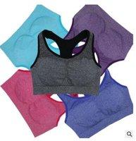 Wholesale New Hygroscopic and Sweat Releasing Quick Drying Bra Women Sports Bra Yoga Fitness Running Small Vest