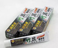 Wholesale 2017 new top quality charcoal toothpaste white and clean whitening black toothpaste bamboo oral hygiene tooth paste hot item