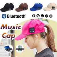 apple baseball hat - 5 Colors Bluetooth Music Earphone Hat Baseball Caps Sunhat With Bluetooth Travel Sports Bluetooth Headset Stereo Headphone