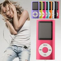 Wholesale Slim TH quot LCD MP4 Player Earphone FM Radio MP4 Music Player Support GB GB GB GB TF Card Slot