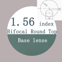 Wholesale round top bifocal1 index resin lens semi finished base lens far sightedness reading presbyopia optical lens for eyeglasses