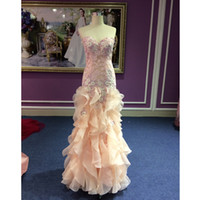Trumpet/Mermaid beauty picks - 100 Real Photos Prom Dresses Sleeves New Arrival High Quality Beauty Embroidery Lace Prom Mermaid Party Gowns Custom Made