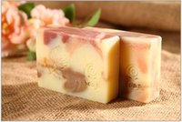 Wholesale Rose Handmade Soap Facial Cleaner And The Skin Care for fashion lady drop shipping Made From Healthy Plant Oill And Otto