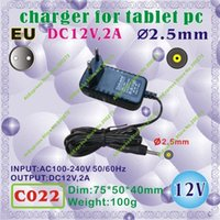 Wholesale C022 DC mm Pin0 mm V A EU power plug Europe Standard Charger or power adaptor for tablet pc onda cube ainol