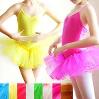 Wholesale Cheap kids dance ballet tutu leotard skirt dress girl s hard gauze stage costumes colors available JQ