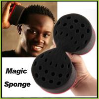 Wholesale Hair Twist Sponges Twists Hair Sponge Twists Magic Barber Sponge Brush Hair Care Styling Tools Top Quality