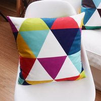 adult room decor - Geometric Cushion Cover Candy Color Supersoft Pillow Cover Styles Colorful Room Decor Pillow Cases Baby Bedroom Sofa Decoration