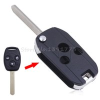 Wholesale car Button Flip Remote Key Shell Key Case Fob Fit for HONDA Accord Pilot Civic CRV With LOGO