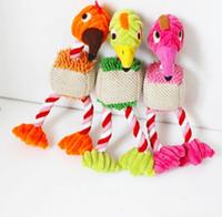 Compra El pájaro suena libre-3 colorea los juguetes de la felpa de la forma del pájaro para los perros pequeños los juguetes del animal doméstico de 28 *