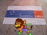australian activities - polyester cm australian labor Party LOGO brand flag labor Activity Decoration banner Digital Printing