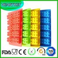 Wholesale Custom Logo Colorful Premium Quality Private Label Silicone Lego Creative Reusable Ice Cube Maker Cake Chocolate Mold