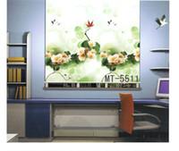 Wholesale Flower printed digital printed modern design blackout roller blind MT