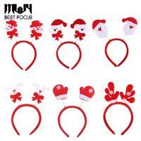 Wholesale MLJY Cute Christmas Headband For Women Girls Decoration D Santa Claus Snowman Festival Hair Band Hair Accessories Christmas Gift